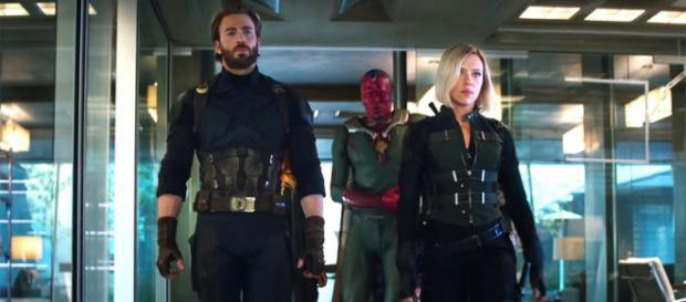 Capitán América, Viuda Negra y Visión en 'Vengadores: Infinity War'
