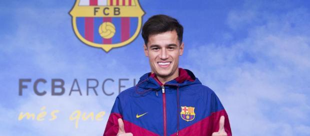 Coutinho alucina con la nueva camiseta del Barça