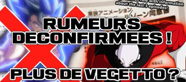 Fin de DBS : Rumeurs dé-confirmées ! Plus de Vegetto ?