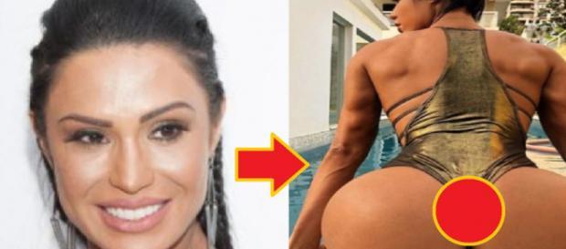 Gracyanne Barbosa chocou os internautas com foto bastante indiscreta.