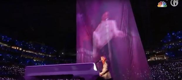 Some of the best musical moments of Super Bowl LII didn't happen at half time. Image cap Guardian News/YouTube