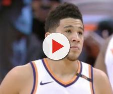 The Cavs reportedly covet Devin Booker of the Phoenix Suns. - [image credit: MLG Highlights / YouTube screencap]
