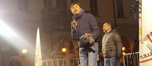 Di Battista assieme ai candidati Tripodi Elisa, Mossa Luciano