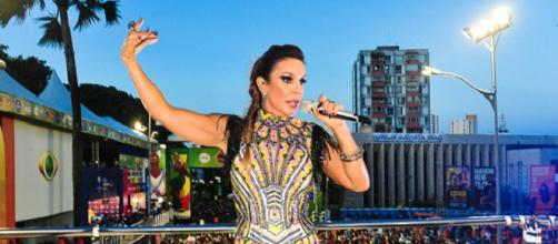 Ivete Sangalo recebe homenagem durante o carnaval