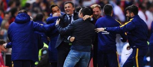 Luis Enrique lo ganó todo con el Barcelona