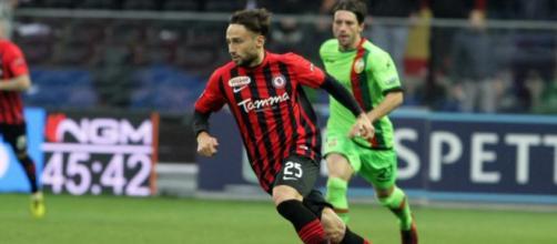 Nella foto, della Lega B, Gerbo in azione con la maglia del Foggia contro la Ternana