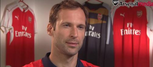 Petr Cech's first Arsenal interview - Image credit - Arsenal | YouTube