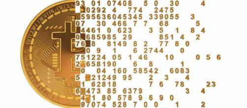 Logomarca da criptomoeda bitcoin