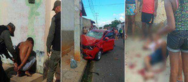 Bandido tem perna esmagada durante perseguição na Zona Norte
