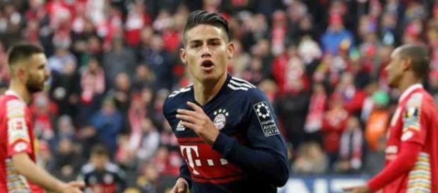James Rodríguez está agora jogando no Bayern de Munique