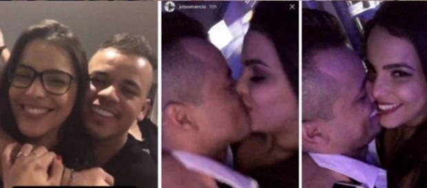 Os dois curtiram a festa de Neymar bem agarradinhos