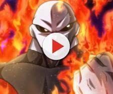 Jiren prendido en llamas y preparado