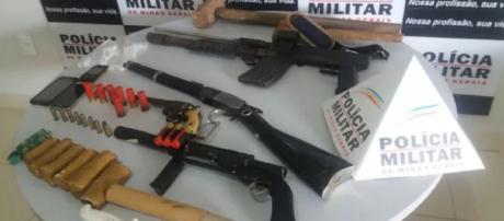 Criminosos armados trocam tiros com a polícia e são feridos em Piedade de Caratinga