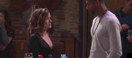 Jordan returns to Genoa City and upsets Chelsea. - [Image via Gosspis for you / YouTube screencap]