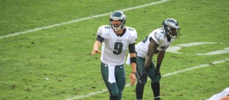 Nick Foles might be placed on the trading block once Carson Wentz recovers from injury. / Photo via Matthew Straubmuller, Flickr CC