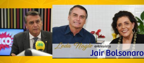 Jair Bolsonaro esteve na Rádio Joven Pan, além de ter participado de entrevista com Leda Nagle