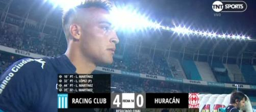 Lautar Martinez contro l'Huracan - PassioneInter