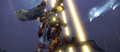 The Gantulyst in 'Warframe: Shrine of Eidolon.' - [PlayWarframe / YouTube screencap]