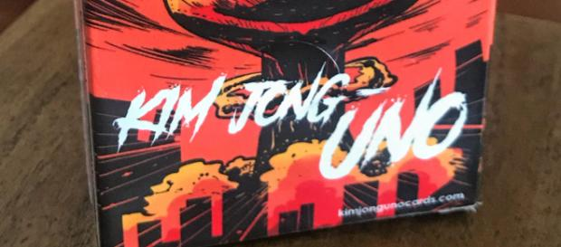 Image of the game box. - [Image provided by Max Learmont, creator of Kim Jong-UNO]