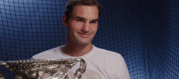Roger Federer won the 2018 Australian Open. [image source: Australian Open TV/ YouTube screenshot]