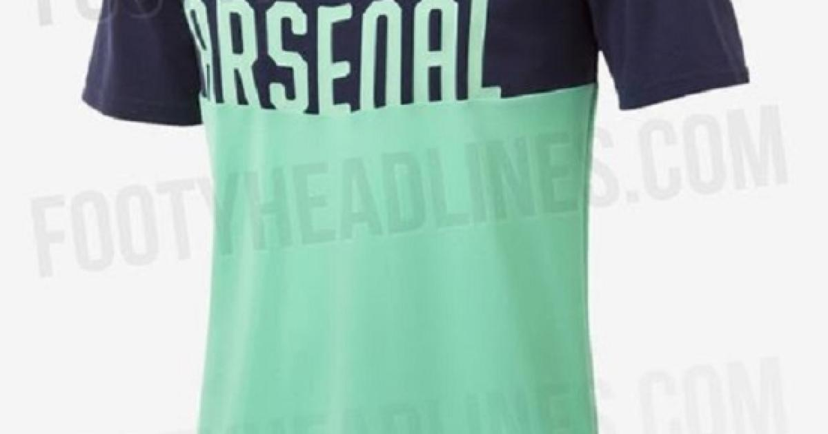 db5f382ed48 The leaked photos of Arsenal's new third kit reveal its garish colour