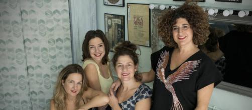 "Ana López Segovia, Alejandra López, Teresa Quintero y Rocío Segovia, ""Las niñas de Cádiz"",pregoneras del carnaval 2018"