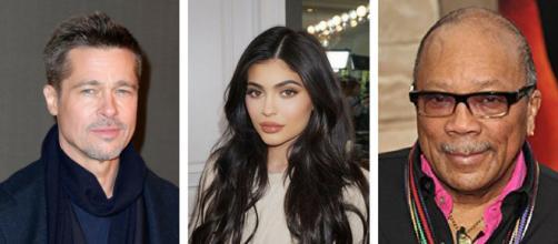 Brad Pitt, Kylie Jenner et Travis Scott et Quincy Jones.