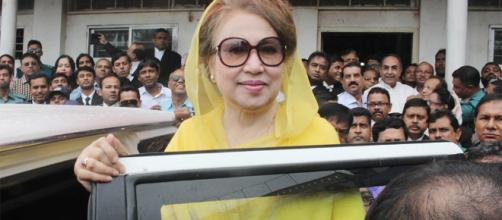 Khaleda Zia appears before court in graft cases | (Image via Dhaka Tribune)