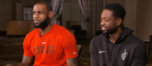 LeBron James and Dwyane Wade of the Cleveland Cavaliers (via YouTube - ESPN)