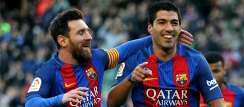 Leo Messi e Suárez formam dupla incrível