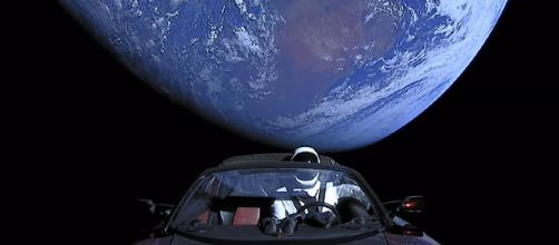Tesla in space [image courtesy SpaceX/Wikipedia]