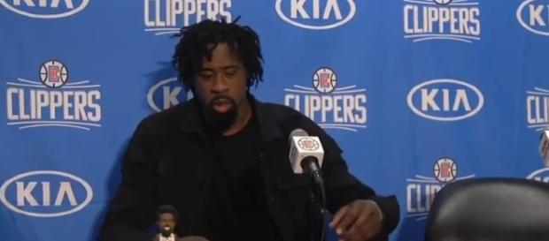 DeAndre Jordan interview. - [cavsHub / YouTube screencap]
