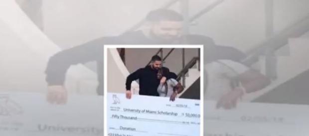 Drake shoots video at miami school and donates scholarship - Image credit - Top 24h News | YouTube
