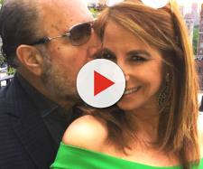 Bobby Zarin gives Jill Zarin a kiss. [Photo via Facebook]