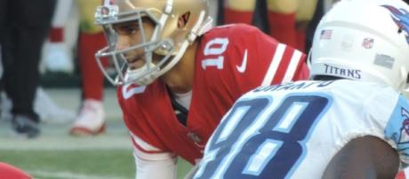 Jimmy Garoppolo goes from backup to highest paid player. - [Casey McNeil / Wikimedia Commons]