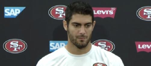 Jimmy Garoppolo went undefeated in his five starts this season (Image Credit: San Francisco 49ers/YouTube)