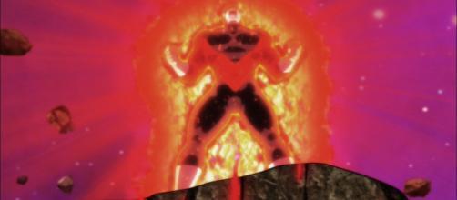 Jiren expulsando su máximo poder