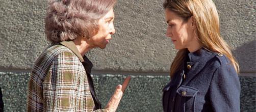 Letizia y Sofía en imagen de archivo