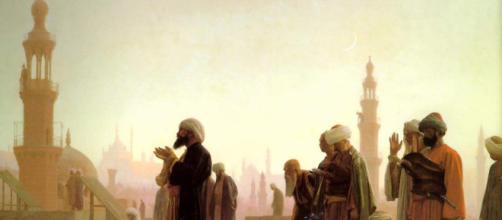 Preghiera al Cairo, dipinto da Jean-Léon Gérome. Fonte foto: Wikipedia