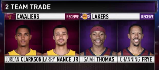 Cleveland Cavaliers' trades (Youtube screen-cap/Ximo Pierto)