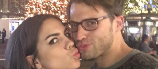 Katie Maloney kisses husband Tom Schwartz. [Photo via Instagram]