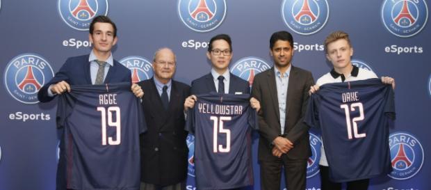 L'annonce de la création du PSG eSports ( via- sportbuzzbuisness.fr)