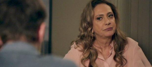 Nádia ficará maluca quando flagrar Gustavo e Leandra no quarto (Imagem/Rede Globo)