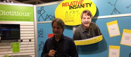 Comedian Jeff Foxworthy gets his game on in New York City -- image used with permission via PlayMonster