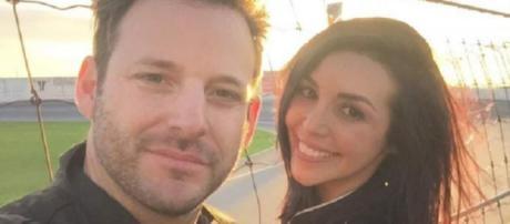 Robert Parks-Valletta and Scheana Marie visit a racetrack. - [Photo via Instagram]