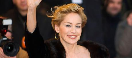 Sharon Stone takes a fall. {Image Credit: Wikimedia Commons]