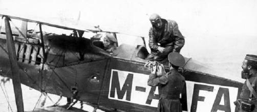 """Avión """"Bristol"""", similar al que usó Senén Ordiales."""
