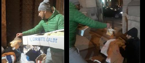 Il video del napoletano che prepara pasti caldi per senza tetto - Facebook