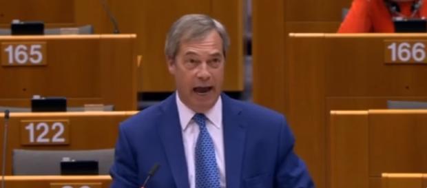 Nigel Farage w Parlamencie Europejskim.