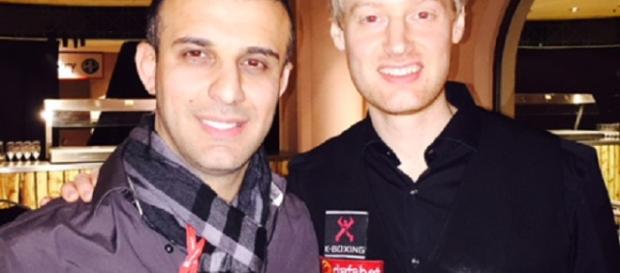 Reventon's Chris Christofi (left) & his pal 2010 World Snooker Champion Neil Robertson